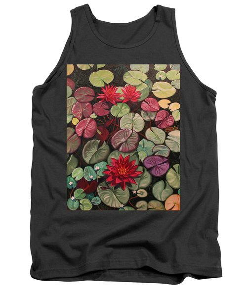 Red Water Lilies Tank Top