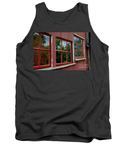 Tank Top featuring the photograph Red Windows Paned by Christiane Hellner-OBrien