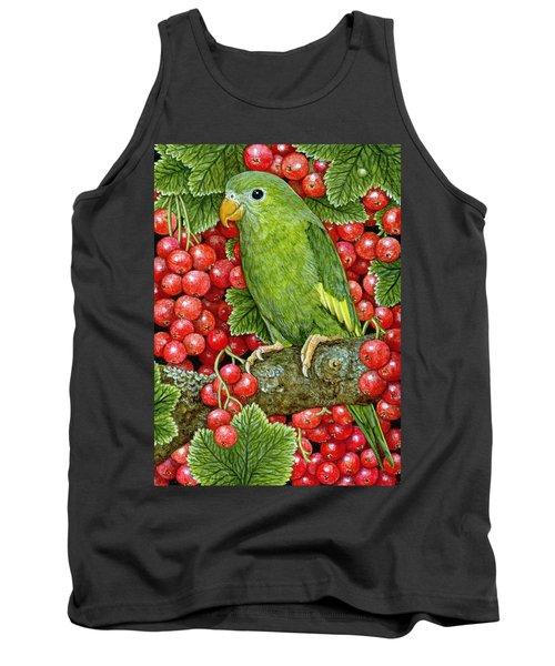 Redcurrant Parakeet Tank Top by Ditz
