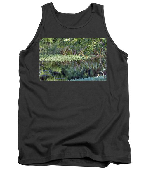 Tank Top featuring the photograph Reed Reflections by Kate Brown