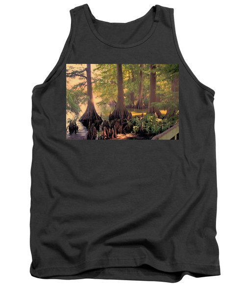 Reelfoot Lake At Sunset Tank Top