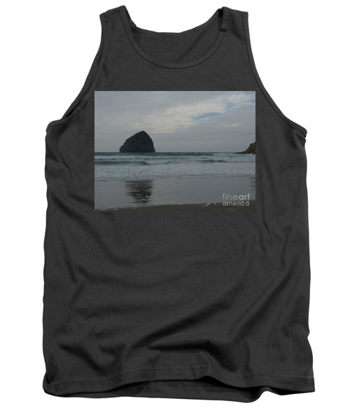 Tank Top featuring the photograph Reflection Of Haystock Rock  by Susan Garren
