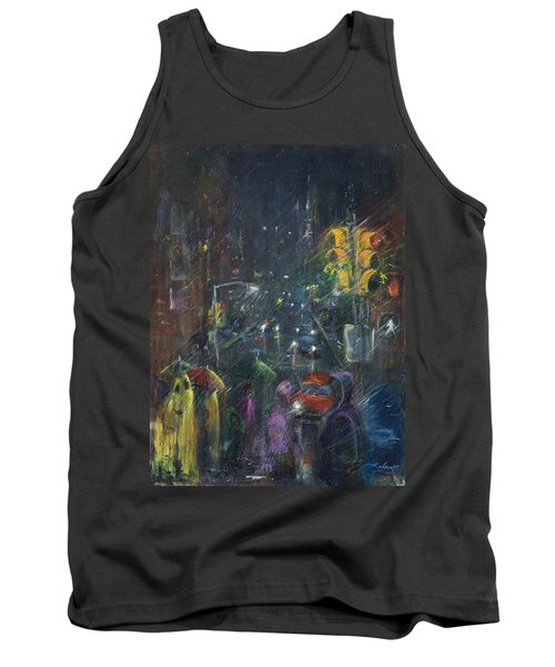 Reflections Of A Rainy Night Tank Top by Leela Payne