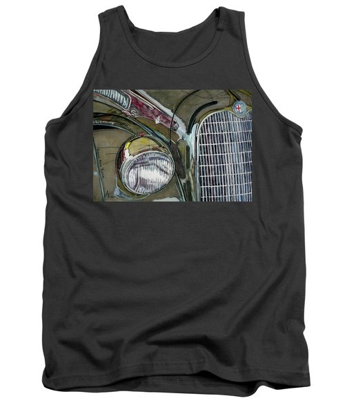 Tank Top featuring the painting Reflections On 1931 Alfa Romeo Milano by Anna Ruzsan