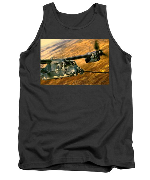 Tank Top featuring the painting Refueling by Dave Luebbert