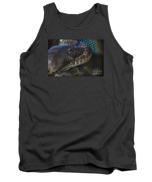 Reticulated Python With Rainbow Scales Tank Top