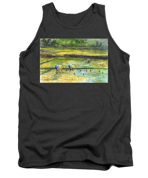 The Rice Paddy Field Tank Top by Carol Wisniewski