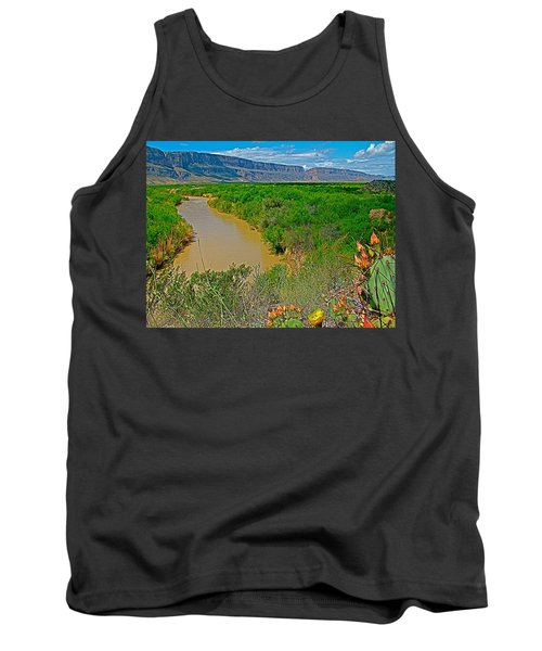 Rio Grande East Of Santa Elena Canyon In  Big Bend National Park-texas Tank Top by Ruth Hager
