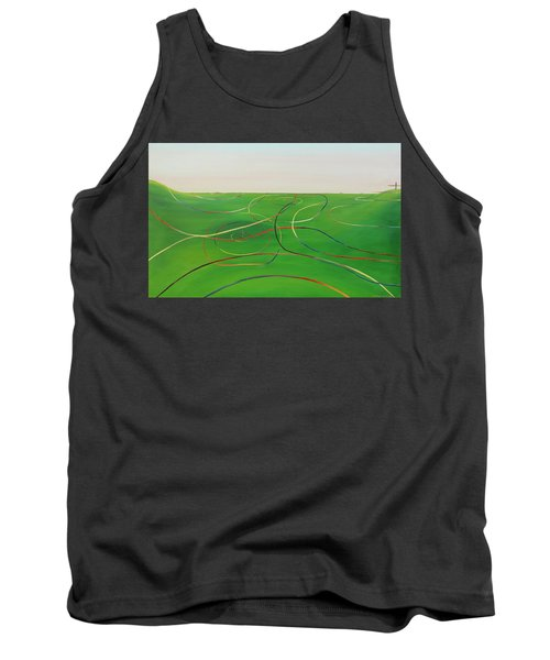 Tank Top featuring the painting Ripples Of Life 1 by Tim Mullaney