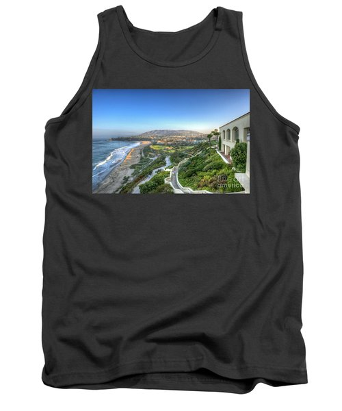 Ritz-carlton Laguna Niguel Ocean View Tank Top by David Zanzinger