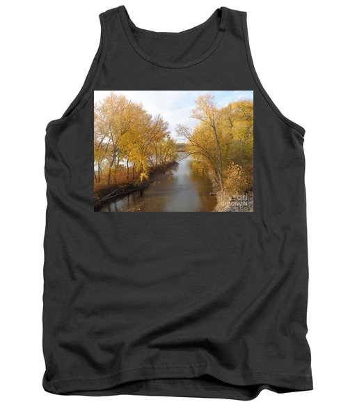 Tank Top featuring the photograph River And Gold by Christina Verdgeline