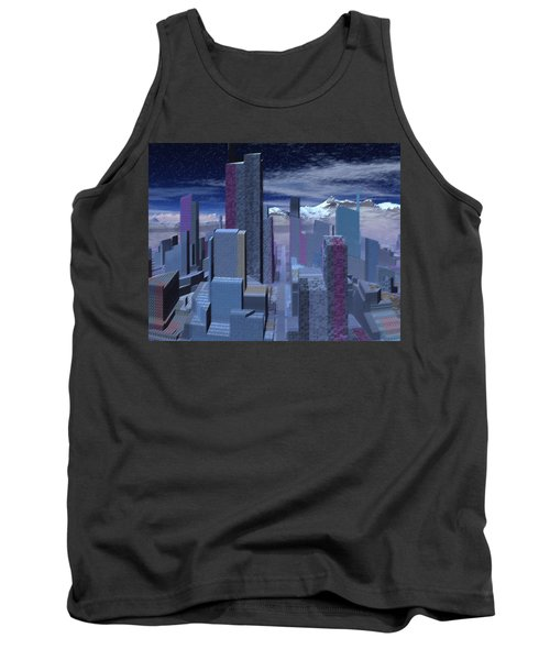 Tank Top featuring the digital art Road To Nowhere by Judi Suni Hall