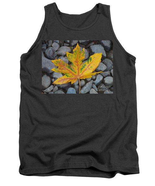 Tank Top featuring the photograph Rock Creek Leaf by Chalet Roome-Rigdon