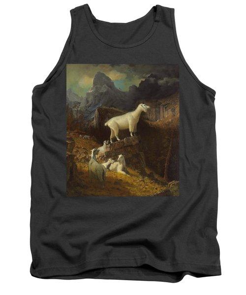 Rocky Mountain Goats Tank Top by Albert Bierstadt