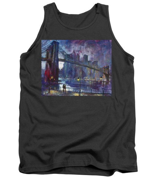 Romance By East River Nyc Tank Top by Ylli Haruni