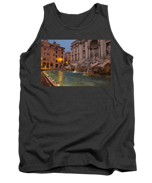 Rome's Fabulous Fountains - Trevi Fountain At Dawn Tank Top by Georgia Mizuleva