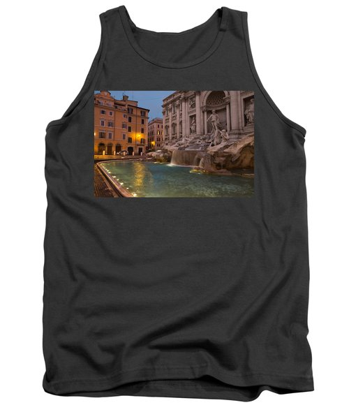 Rome's Fabulous Fountains - Trevi Fountain At Dawn Tank Top
