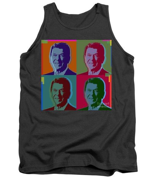 Ronald Reagan Tank Top by Jean luc Comperat