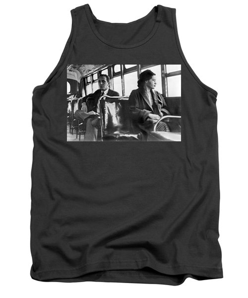 Rosa Parks On Bus Tank Top