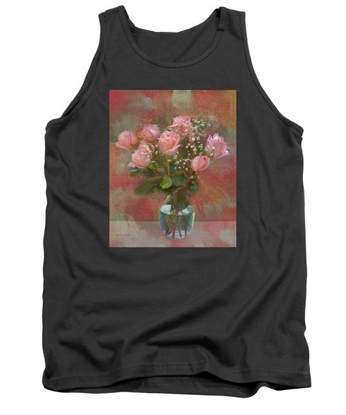 Rose Bouquet Tank Top by Sandi OReilly