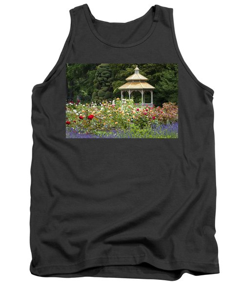 Tank Top featuring the photograph Rose Garden Gazebo by Sonya Lang
