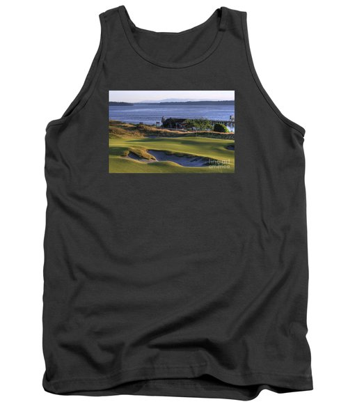 Tank Top featuring the photograph Hole 17 Hdr by Chris Anderson