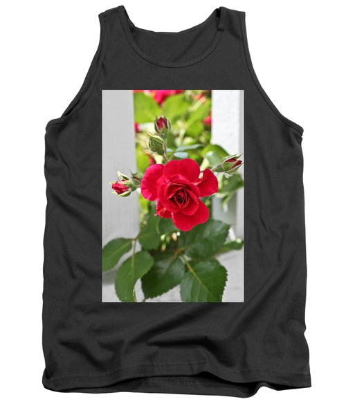 Tank Top featuring the photograph Roses Are Red by Joann Copeland-Paul