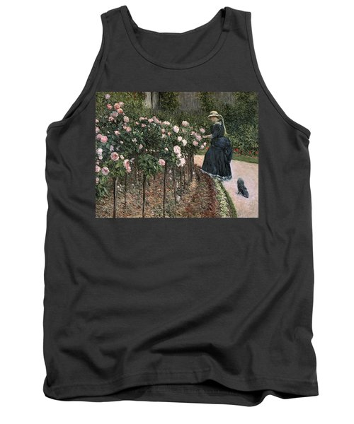 Roses In The Garden At Petit Gennevilliers Tank Top