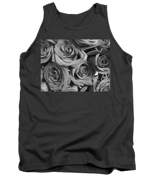 Tank Top featuring the photograph Roses On Your Wall Black And White  by Joseph Baril