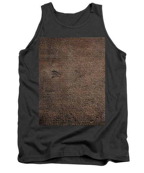 Rosetta Stone Texture Tank Top by Gina Dsgn