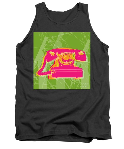 Rotary Phone Tank Top by Jean luc Comperat