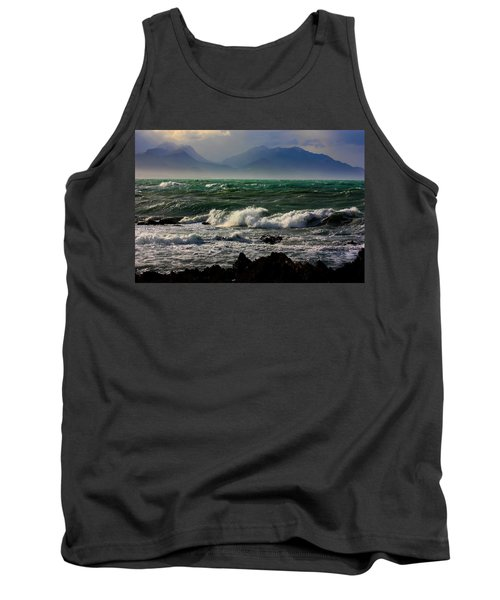 Tank Top featuring the photograph Rough Seas Kaikoura New Zealand by Amanda Stadther