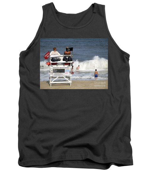 Rough Water At Bethany Beach In Delaware  Tank Top