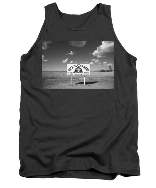Route 66 - Midpoint Sign Tank Top