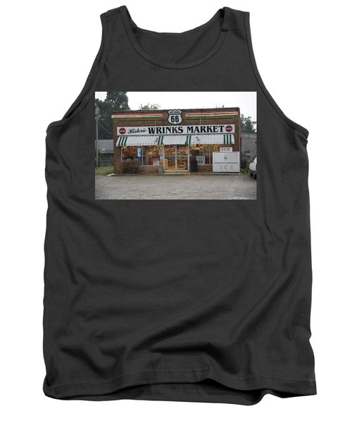Route 66 - Wrink's Market Tank Top by Frank Romeo