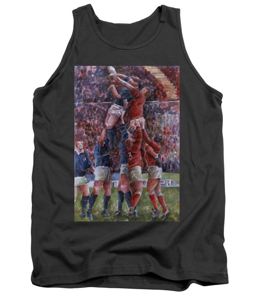 Rugby International, Wales V Scotland Wc On Paper Tank Top
