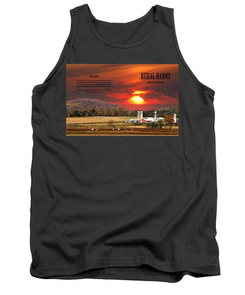 Tank Top featuring the photograph Rural Barns  My Book Cover by Randall Branham