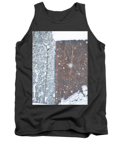 Rust Not Sleeping In The Snow Tank Top