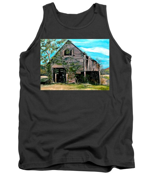 Rustic Barn - Mooresburg - Tennessee Tank Top by Jan Dappen