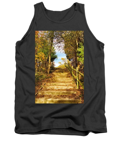 Rustic Stairway Tank Top by Jean Goodwin Brooks