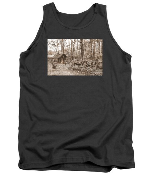 Rustic Wagon Tank Top by Debbie Green