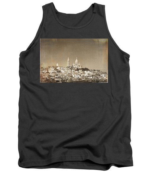 Sacre Coeur Basilica Of Montmartre In Paris Tank Top