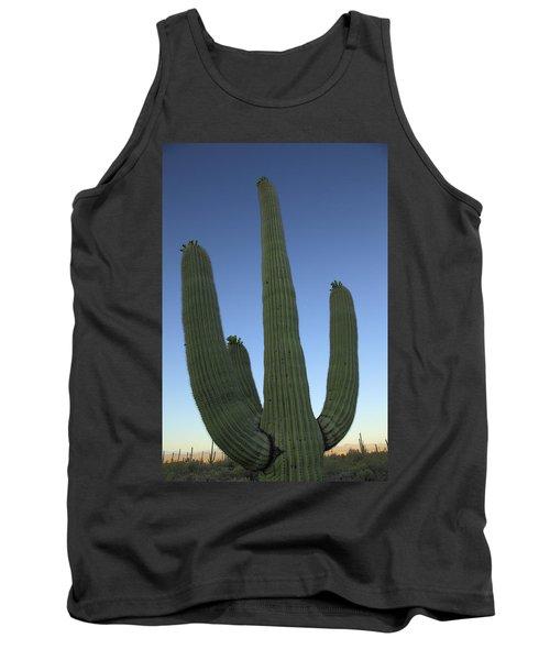 Tank Top featuring the photograph Saguaro Cactus At Sunset by Alan Vance Ley