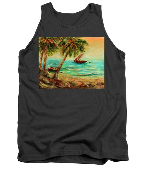 Sail Boats On Indian Ocean  Tank Top