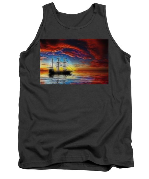 Sailboat Fractal Tank Top