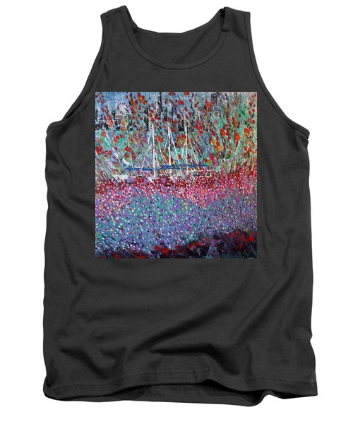 Sailing Among The Flowers Tank Top by George Riney