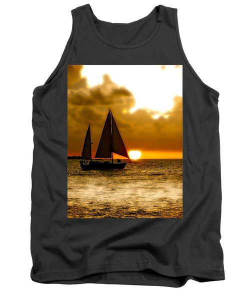 Tank Top featuring the photograph Sailing The Keys by Iconic Images Art Gallery David Pucciarelli