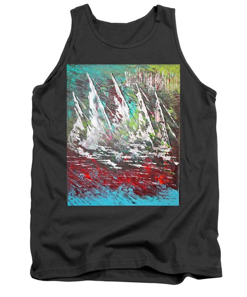 Sailing Together - Sold Tank Top by George Riney
