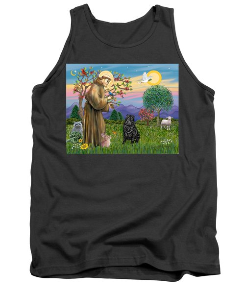 Saint Francis Blesses A Black Chinese Shar Pei Tank Top