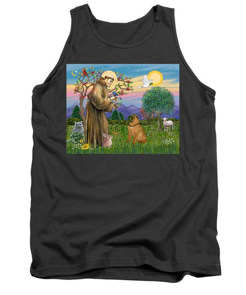 Saint Francis Blesses A Chinese Shar Pei Tank Top